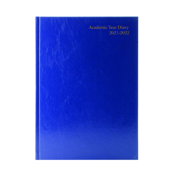 Academic Diary Day Per Page A5 Blue 2021-22 KF1A5ABU21