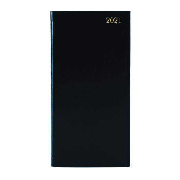 Portrait Diary Week to View Slim Black 2021 KF1BK21