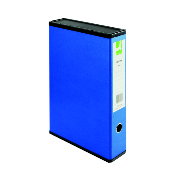 Q-Connect 75mm Box File Foolscap Blue (5 Pack) 31813KIN0