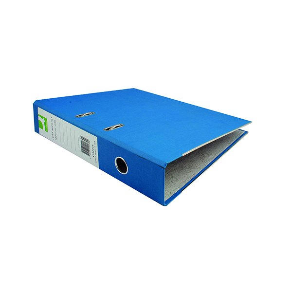 Q-Connect Paper-Backed Blue Lever Arch Foolscap File KF20030X