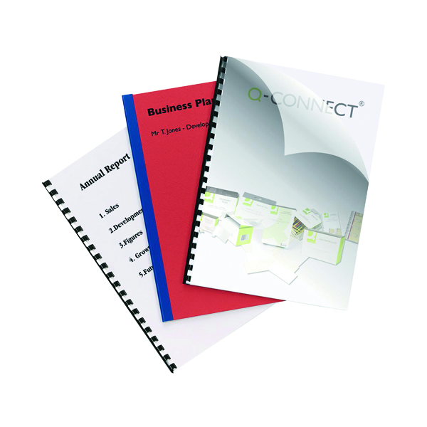 Q-Connect Clear A4 PVC Binding Covers 250 Micron (100 Pack) KF24011