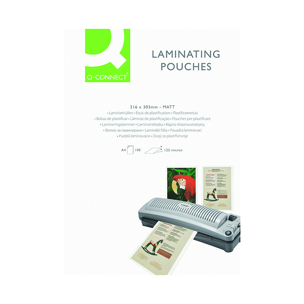 Q-Connect Matt A4 Laminating Pouch 250 Micron (100 Pack) KF24055