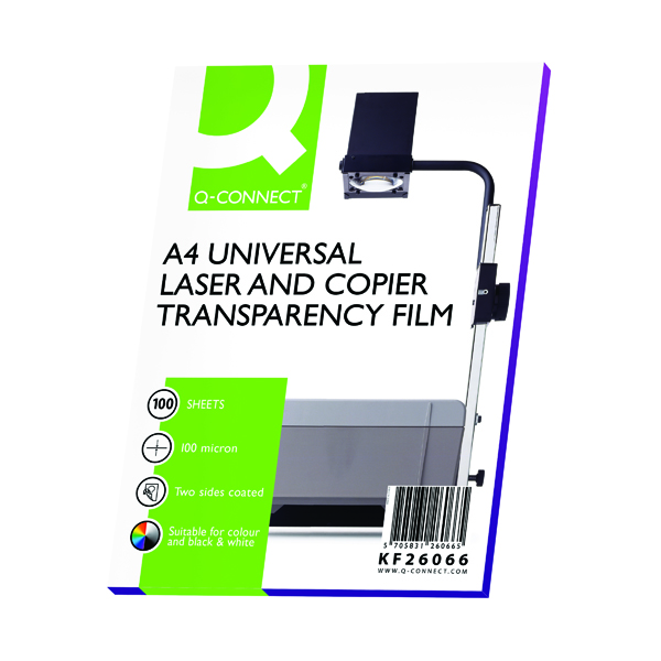 Q-Connect Clear Over Head Projector Film (100 Pack) KF26066