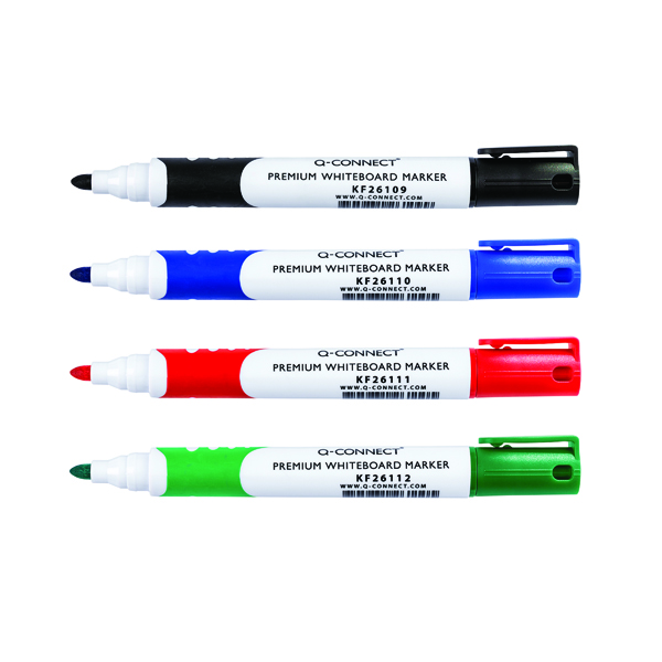 KF02305 Q-Connect Permanent Marker Fine Bullet Tip Assorted Pack of 10