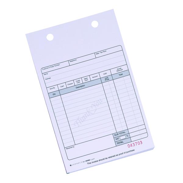 Q-Connect 2-Part Sales Receipt Form White (100 Pack) KF32108