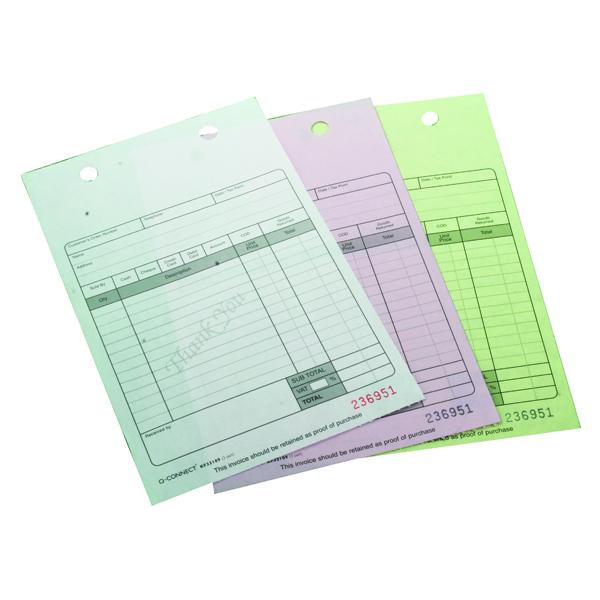Q-Connect 3-Part Register Receipt Form (75 Pack) KF32109