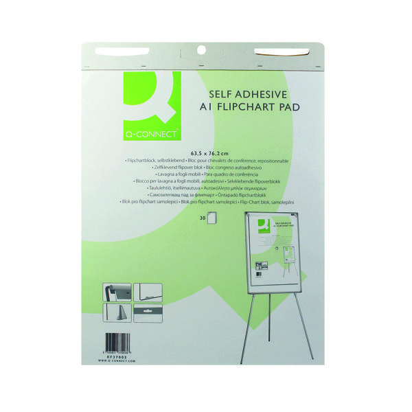Q-Connect Self Adhesive A1 Flipchart (2 Pack) KF37003