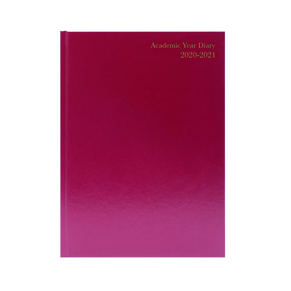 Academic Diary Week to View A4 Burgundy 2020-21 KF3A4ABG20