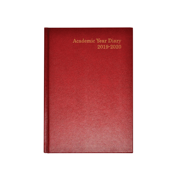 Academic Diary A5 Week to View 2019-20 Burgundy KF3A5ABG19
