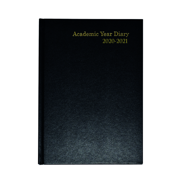 Academic Diary Week to View A5 Black 2020-21 KF3A5ABK20