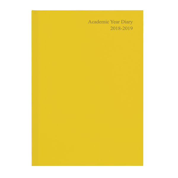 Academic Diary A5 Week to View 2019-20 Yellow KF3A5AYL19