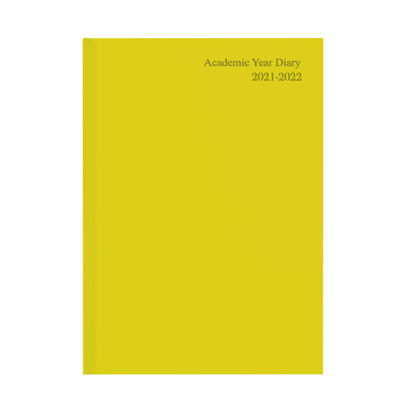 Academic Diary Week To View A5 Yellow 2021-22 KF3A5AYL21
