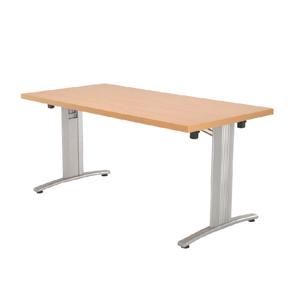 Arista Beech Lightweight Folding Rectangular 1600x800mm Conference Table KF71396