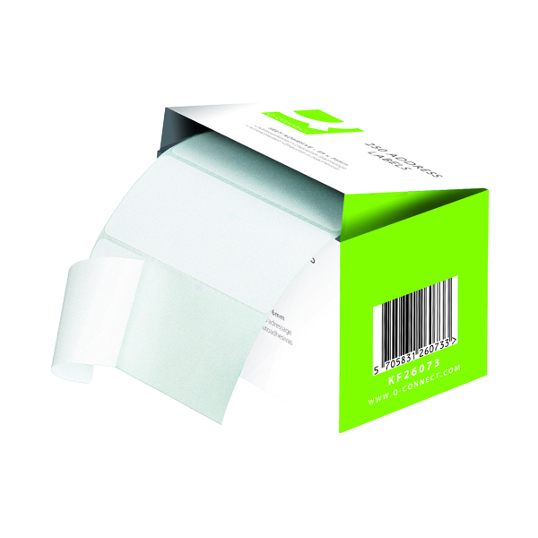Q-Connect Address Label Roll Self Adhesive 102x49mm White (180 Pack) 0073024