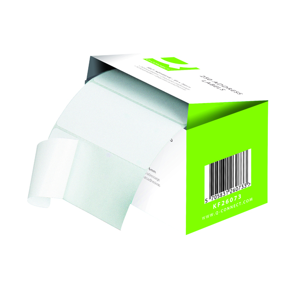 Q-Connect Address Label Roll Self Adhesive 76x50mm White (1500 Pack) 9320029