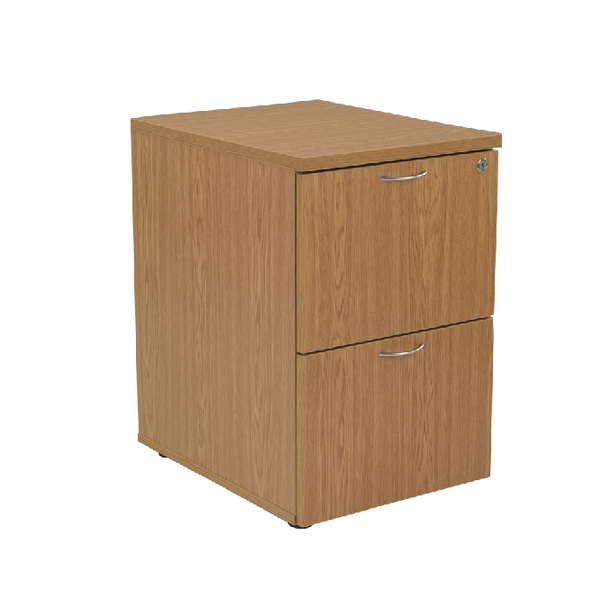 Jemini Oak 2 Drawer Filing Cabinet KF71956