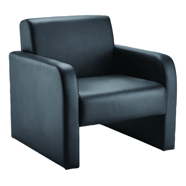 Arista Flat Pack Leather Look Black Reception Chair KF72153