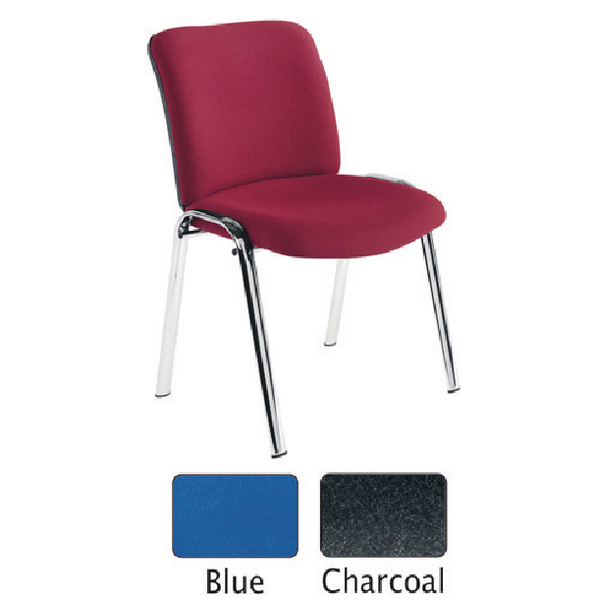 Avior Conference High Back Chrome Chair Blue KF72259