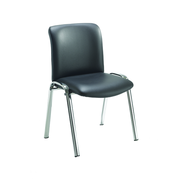 Avior Executive Leather Look Side Chair Black KF72262