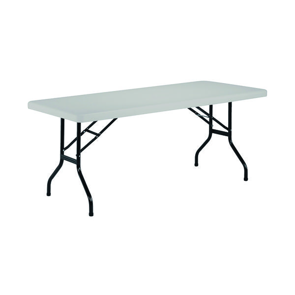 Jemini White 1220mm Folding Rectangular Table KF72328