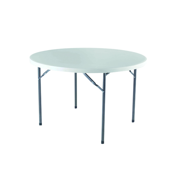 Jemini White 1200mm Folding Round Table KF72331