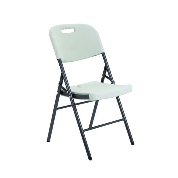 Jemini Lightweight Folding Chair White KF72332