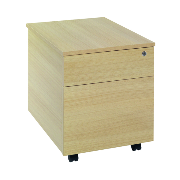 Jemini Ferrera Oak 2 Drawer Mobile Pedestal KF73517
