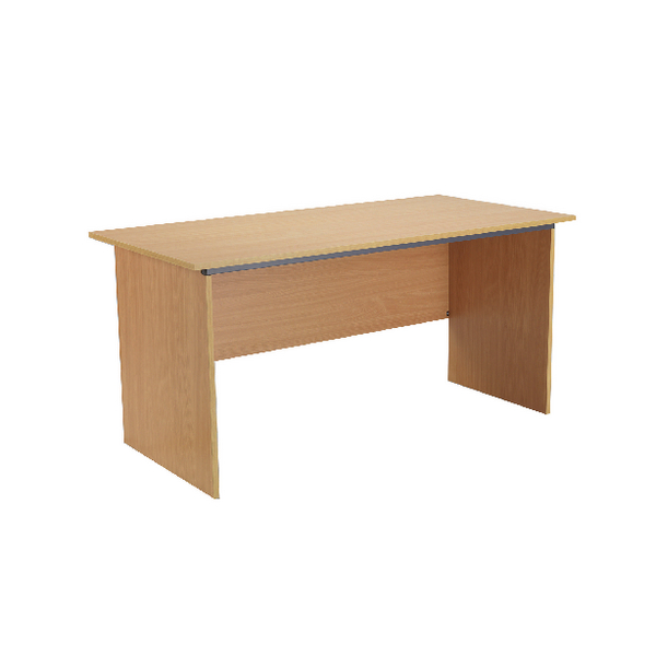 Serrion Bavarian Beech 1500mm Panel End Desk KF73662