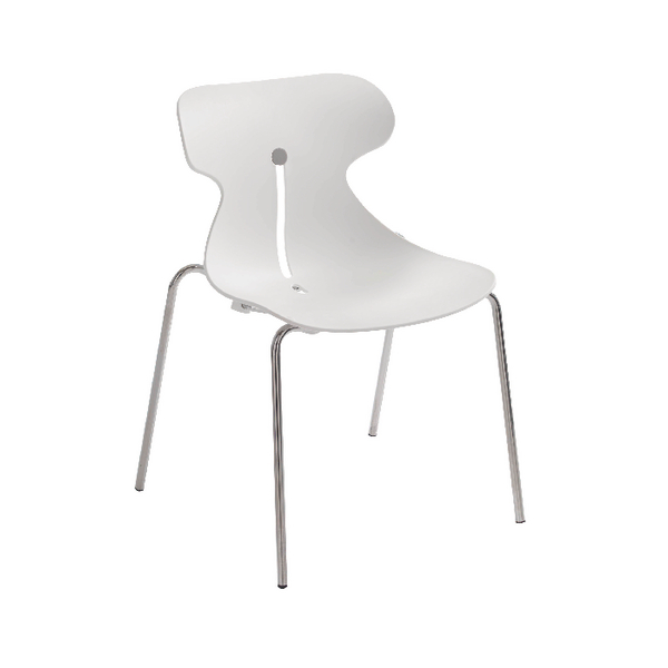 Arista Breakout Chair White (Pack of 1) KF73894