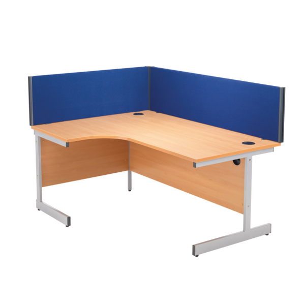 Jemini 1600mm Blue Straight Desk Screen KF73917