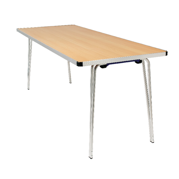 Jemini Saxon Oak W1220xD685xH698mm Folding Table KF74023
