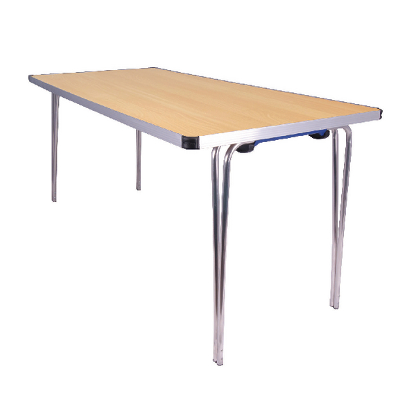 Jemini Japanese Beech W1520xD685xH698mm Rectangular Aluminium Folding Table KF74028