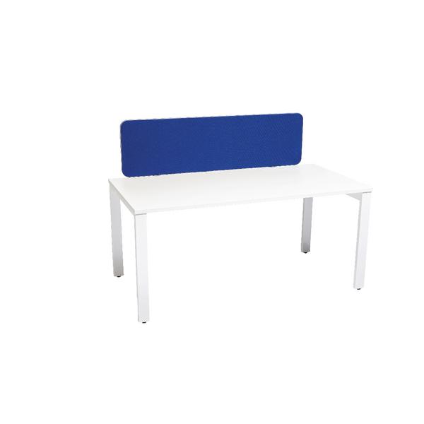 Jemini Silver Trim Blue 1600mm Straight Rounded Corner Screen KF74250