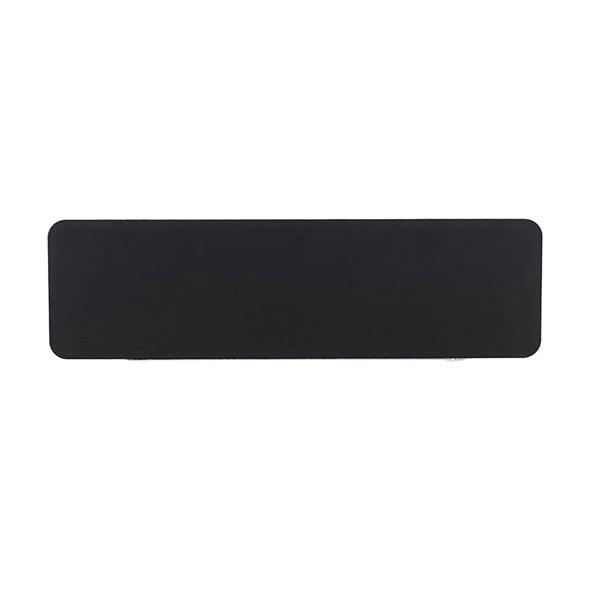 Jemini White Trim Black 1200mm Straight Rounded Corner Screen KF74264