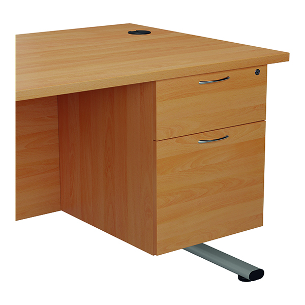 Jemini 655 Fixed Pedestal 2 Drawer Beech KF74411