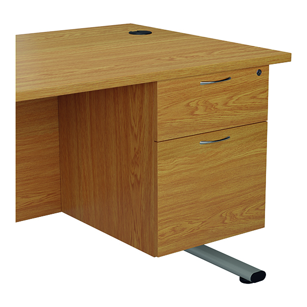 Jemini 655 Fixed Pedestal 2 Drawer Nova Oak KF74415