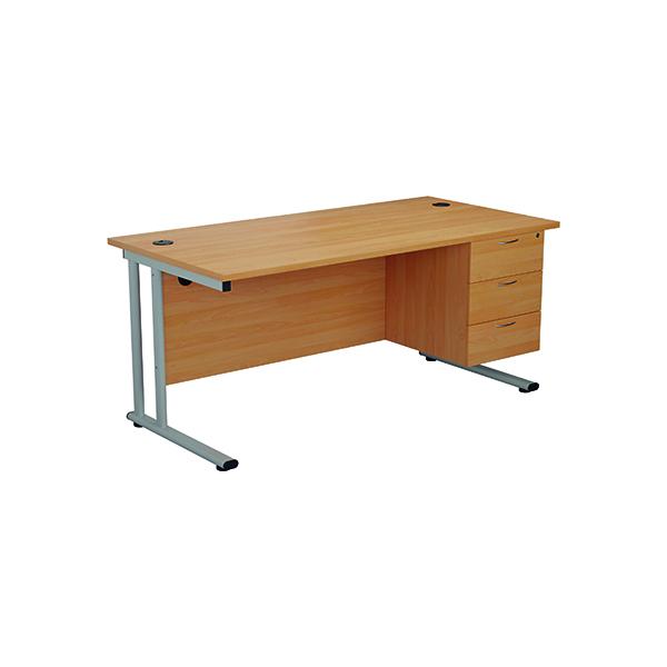 Jemini 655 Fixed Pedestal 3 Drawer Beech KF74417
