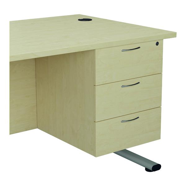 Jemini 655 Fixed Pedestal 3 Drawer Maple KF74420