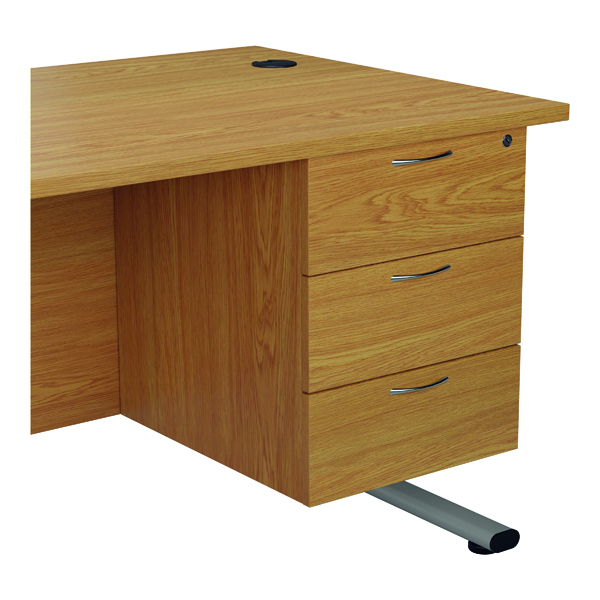 Jemini 655 Fixed Pedestal 3 Drawer Nova Oak KF74421