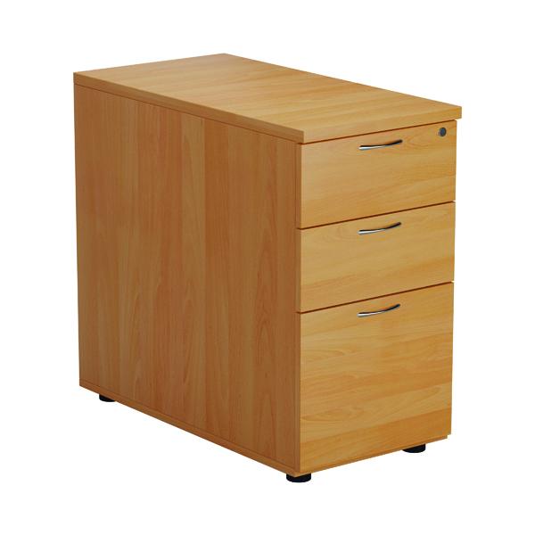 Jemini Beech 3 Drawer Desk High Pedestal 800 V2 KF74482