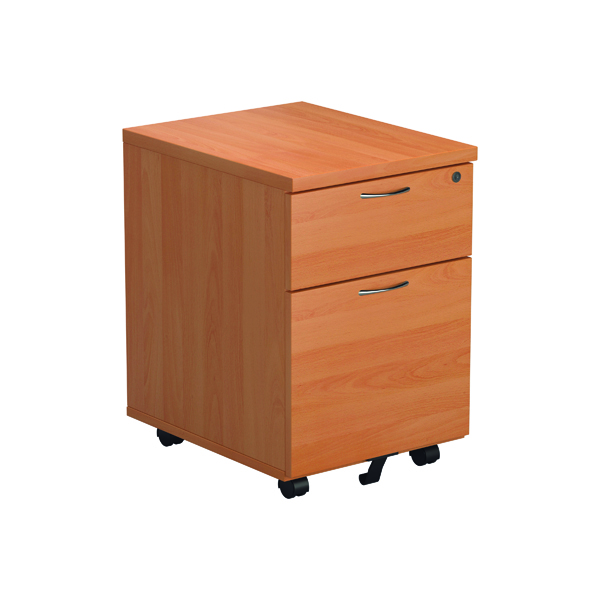 Jemini Beech 2 Drawer Mobile Pedestal Version 2 TESMP2BE2
