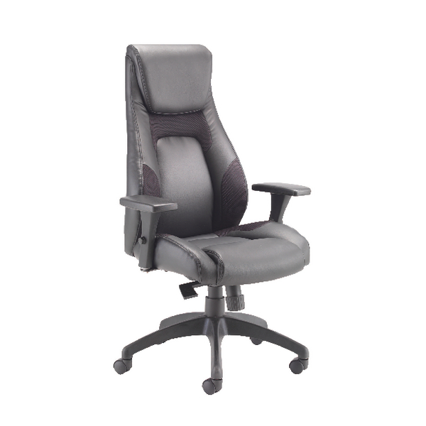 Avior Veloce Leather Look and Mesh Chair Black KF74495
