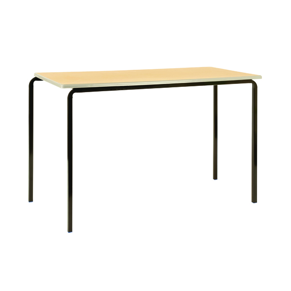 Jemini MDF Edge 1200x600x590mm Beech Top Class Table (4 Pack) KF74557