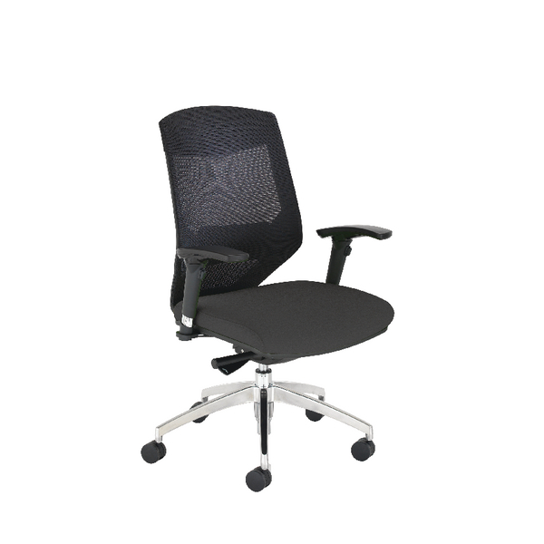 Arista Medium Back Mesh Task Black Chair KF74647