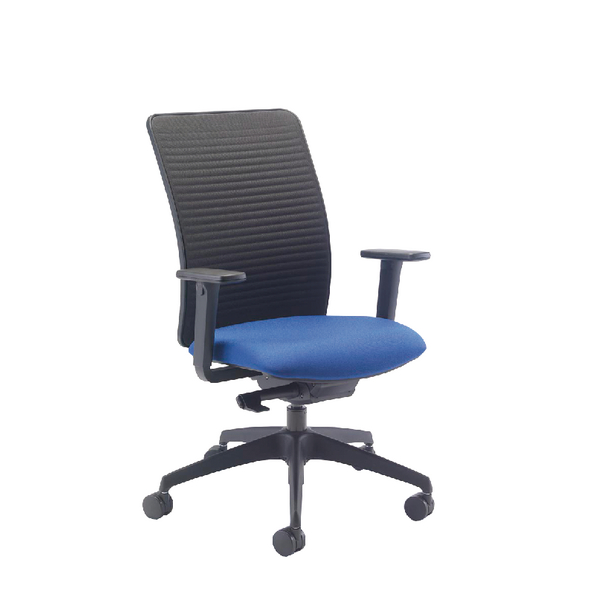 Arista Push Mech Fabric Task Blue Chair KF74758