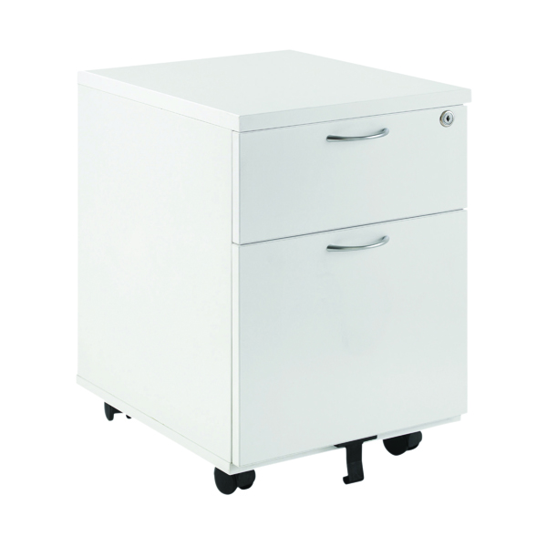 First Mobile Under Desk Pedestal 2 Door White KF74765