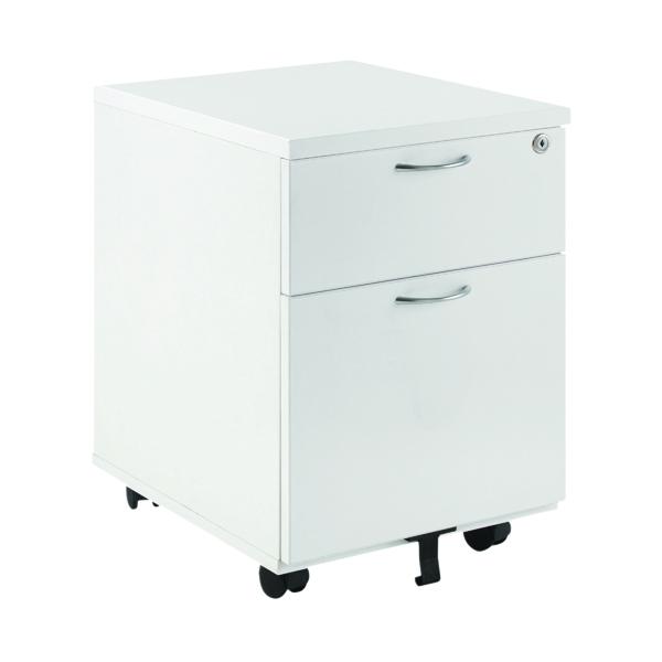 First Mobile Under Desk Pedestal 2 Door White KF74765