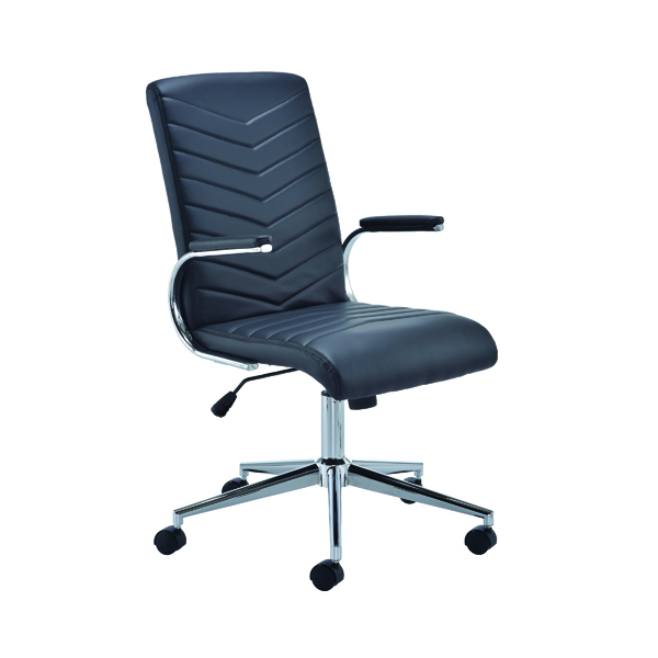 Arista Tarragona Leather Look Chair Black KF74819