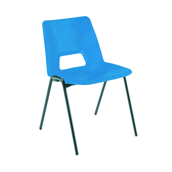 Jemini Polypropylene Stacking Blue Chair KF74958