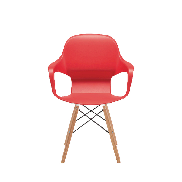 Arista Cafe Bistro Chair with Wire Base Red KF78678